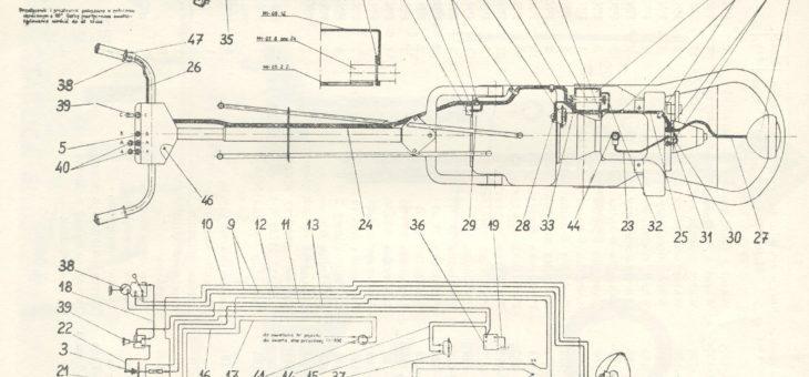 Schemat instalacji elektrycznej Dzik 2