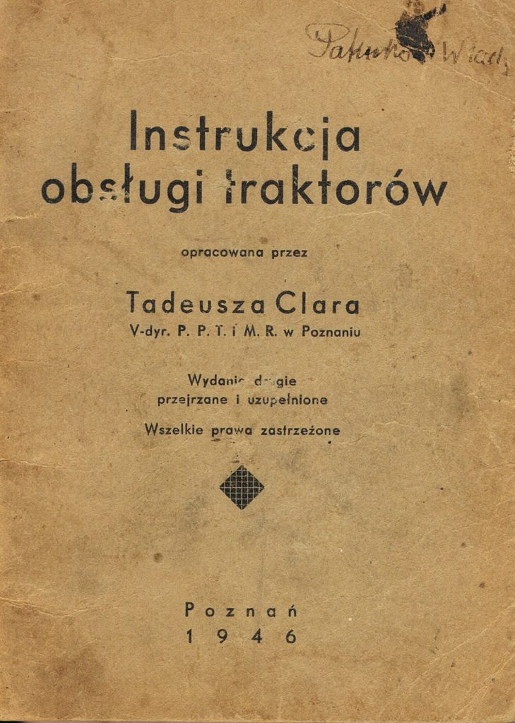 Book Cover: Instrukcja obsługi traktorów