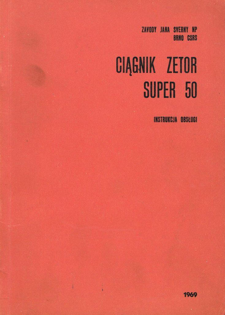 Book Cover: Ciągnik Zetor Super 50 instrukcja obsługi