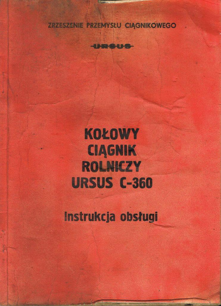 Book Cover: Kołowy ciągnik rolniczy Ursus C-360 instrukcja obsługi