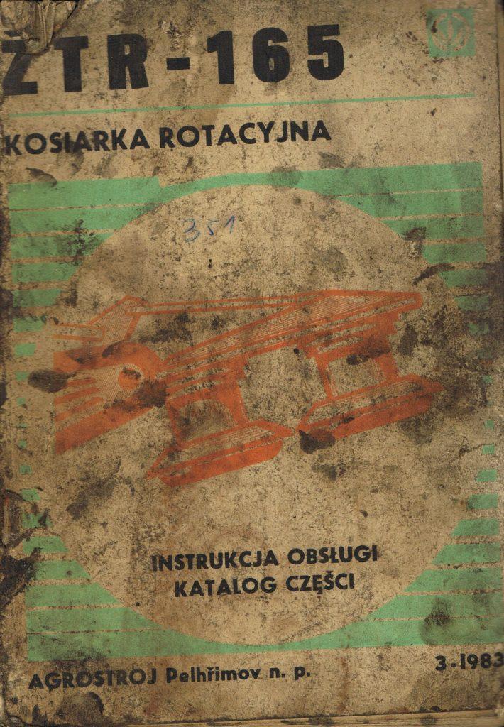 Book Cover: Kosiarka rotacyjna ZTR-165 instrukcja obsługi i katalog części