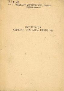 Book Cover: Instrukcja obsługi ciągnika Ursus 385