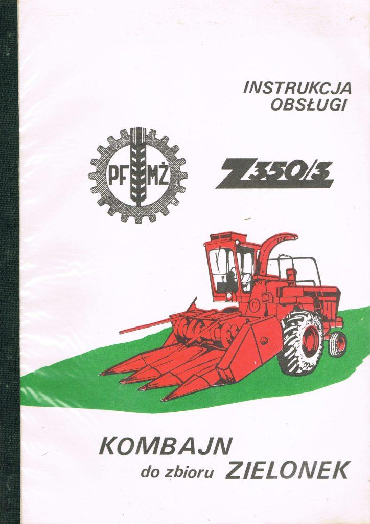 Book Cover: Kombajn do zbioru zielonek Z350/3