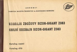 Book Cover: Kombajn zbożowy Bizon Gigant Z083