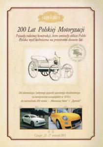 Book Cover: 200 lat polskiej motoryzacji 1815-2015 P. Pluskowski