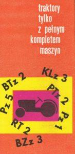 Book Cover: Traktory tylko z pełnym kompletem maszyn