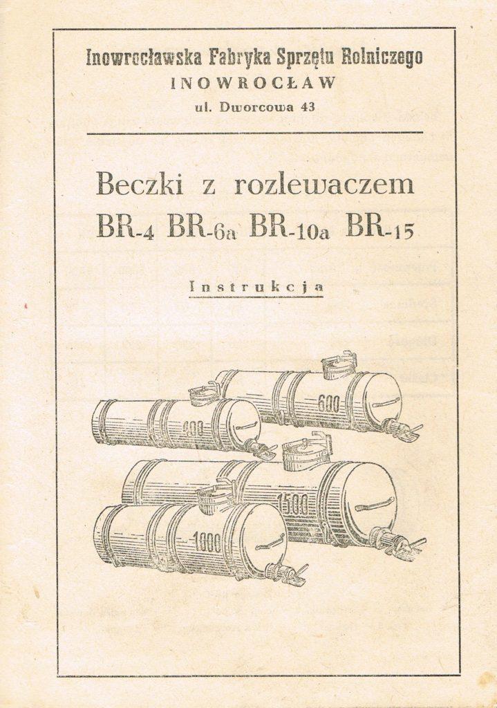 Book Cover: Beczki z rozlewaczem BR-4, BR-6a, BR-10a, BR-15 instrukcja