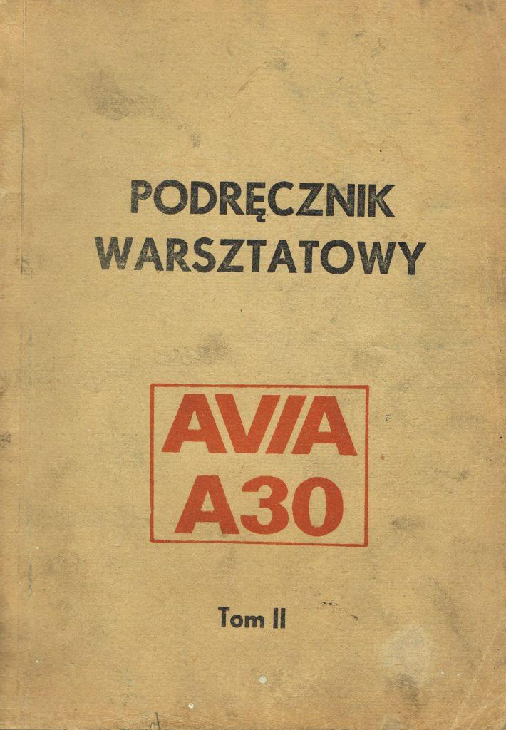 Book Cover: Avia A30 podręcznik warsztatowy tom II