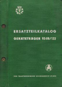 Book Cover: Ersatzteil-katalog Geratetrager RS09/122