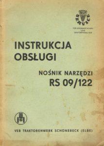 Book Cover: Nośnik narzędzi RS09/122 instrukcja obsługi