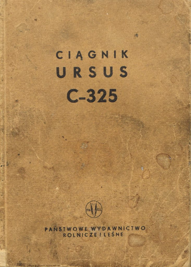 Book Cover: Ciągnik Ursus C-325 instrukcja obsługi i katalog części