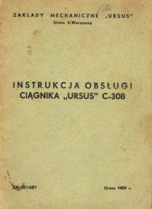 Book Cover: Instrukcja obsługi ciągnika Ursus C-308