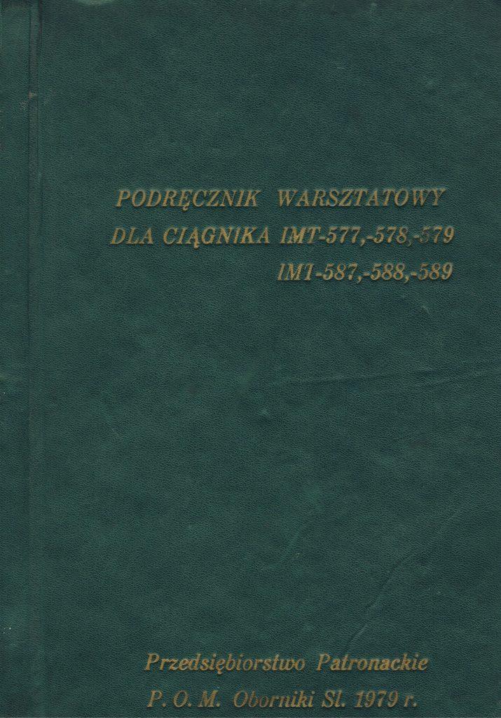Book Cover: Podręcznik warsztatowy dla ciągnika IMT-577,-578,-579, IMT-587,-588,-589