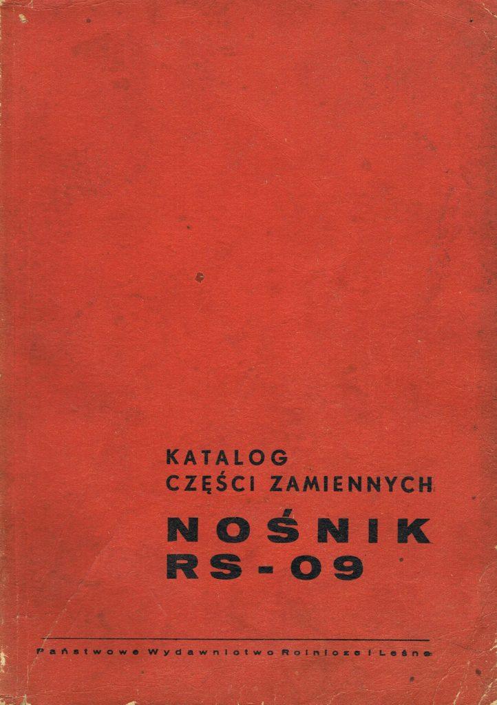 Book Cover: Katalog części zamiennych nośnik RS-09