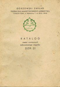 Book Cover: Katalog części zamiennych jednoosiowego ciągnika Dzik 21