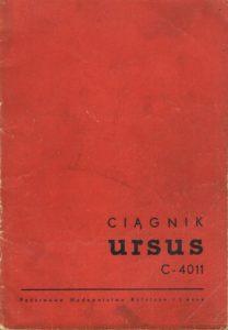 Book Cover: Kołowy ciągnik rolniczy Ursus C-4011 instrukcja obsługi