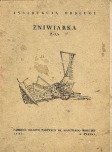 Book Cover: Żniwiarka Ż-5A instrukcja obsługi