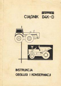 Book Cover: Ciągnik Dutra D4K-D instrukcja obsługi i konserwacji