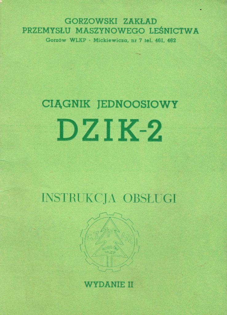 Book Cover: Ciągnik jednoosiowy Dzik 2 instrukcja obsługi