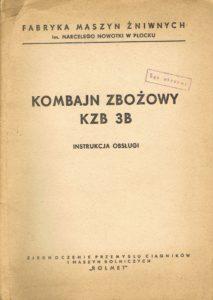 Book Cover: Kombajn zbożowy KZB 3B instrukcja obsługi