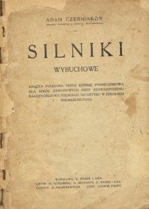 Book Cover: Silniki wybuchowe A. Czerniaków