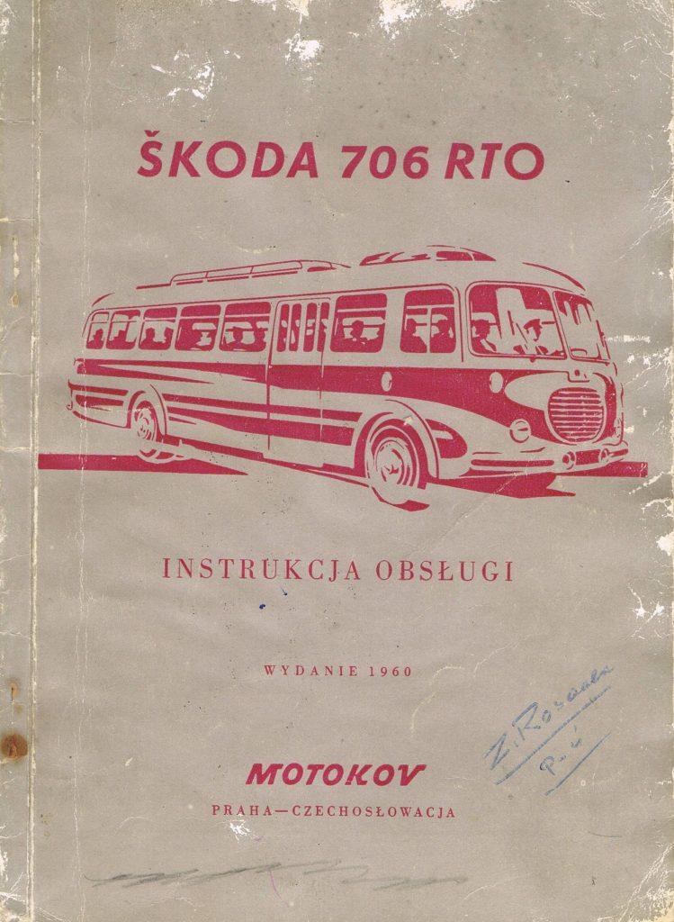 Book Cover: Skoda 706 RTO instrukcja obsługi