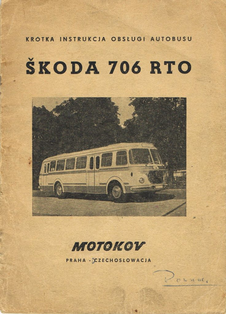 Book Cover: Skoda 706 RTO krótka instrukcja obsługi autobusu