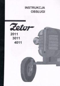 Book Cover: Instrukcja obsługi Zetor 2011 3011 4011