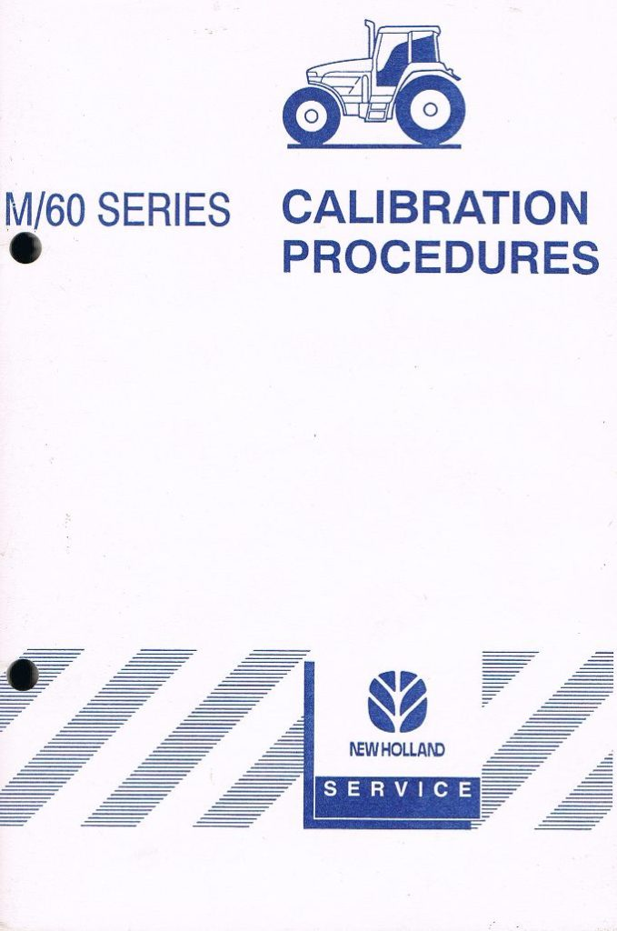 Book Cover: New Holland M/60 Series Calibration Procedures