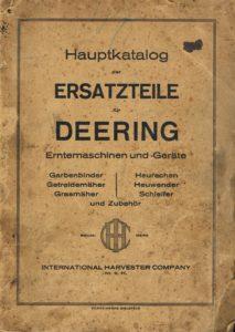 Book Cover: Hauptkatalog der Ersatzteile fur Deering Erntemaschinen und -Gerate
