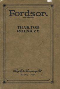 Book Cover: Fordson Traktor rolniczy