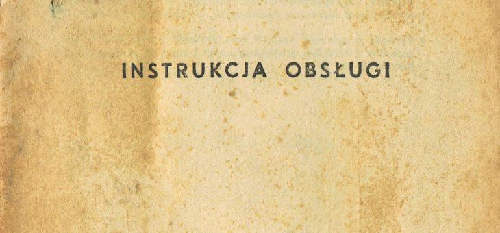 Kosiarka konna K-1,4 instrukcja obsługi i katalog części