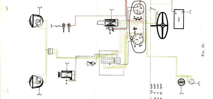 Schemat instalacji elektrycznej Zetor 25